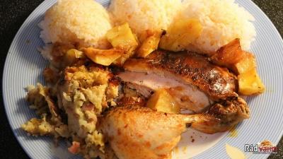 Pečené a plnené kura