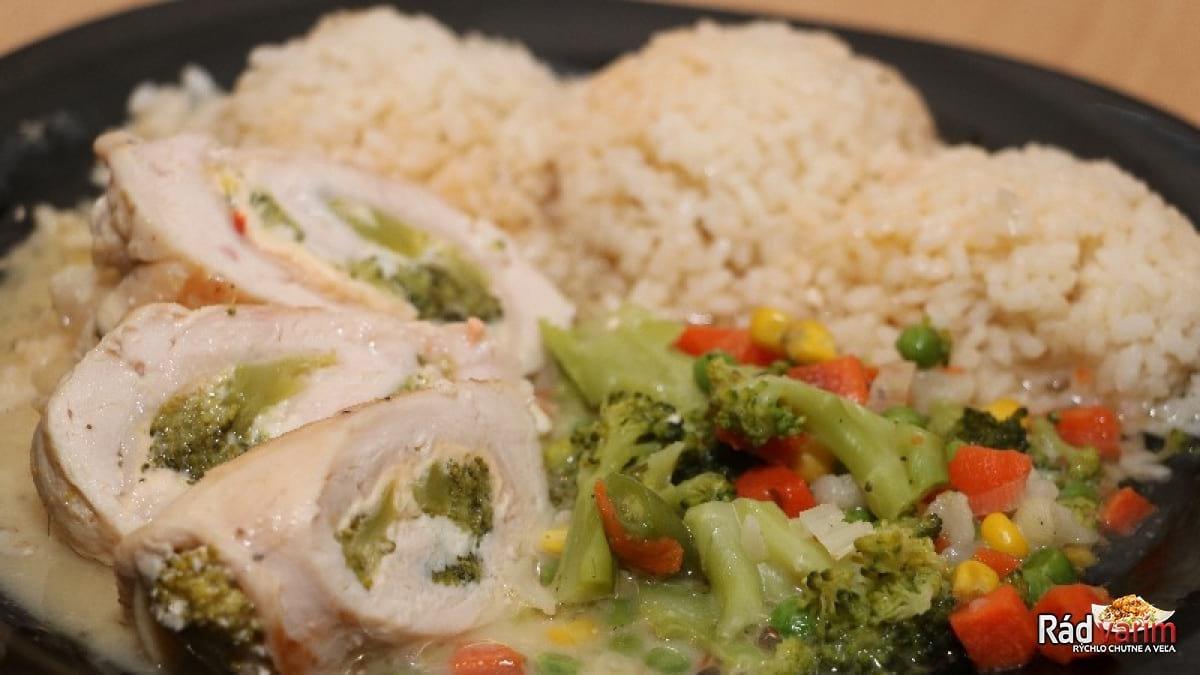 Kuracie prsia plnené brokolicou a syrom