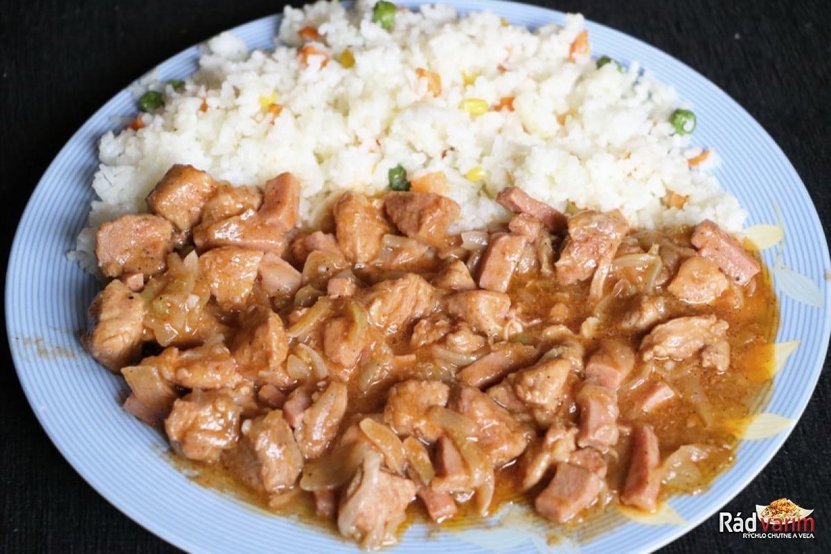 Bravčové mäso so salámou