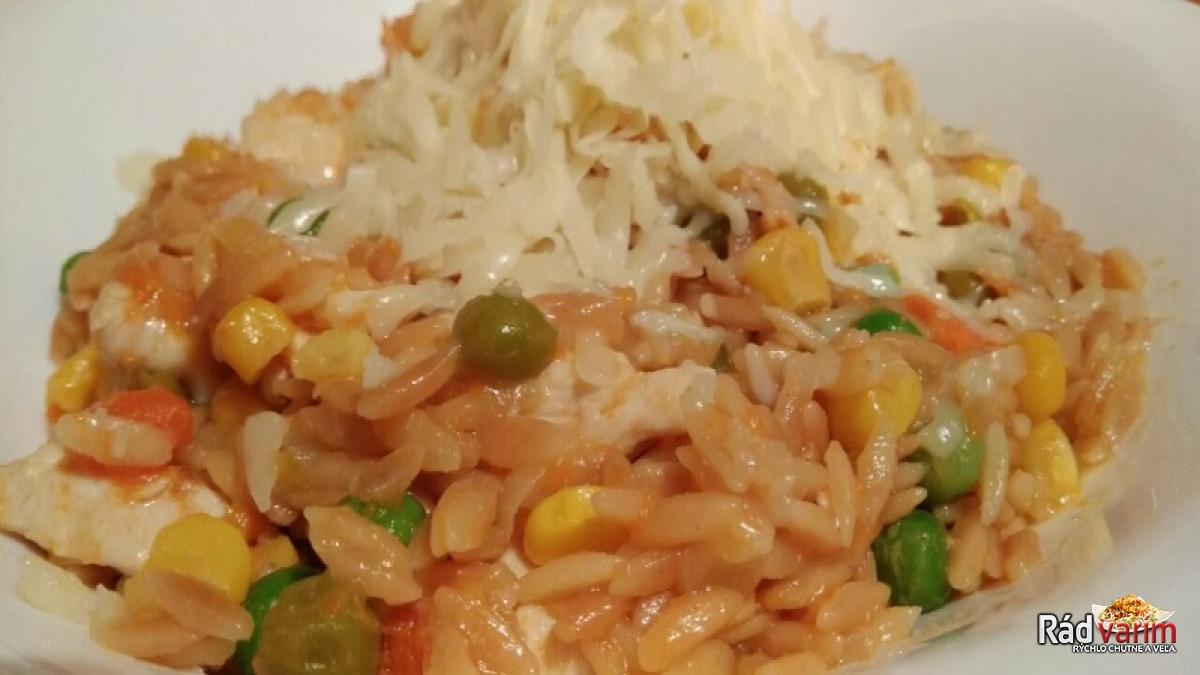 Kuracie rizoto so slovenskou ryžou