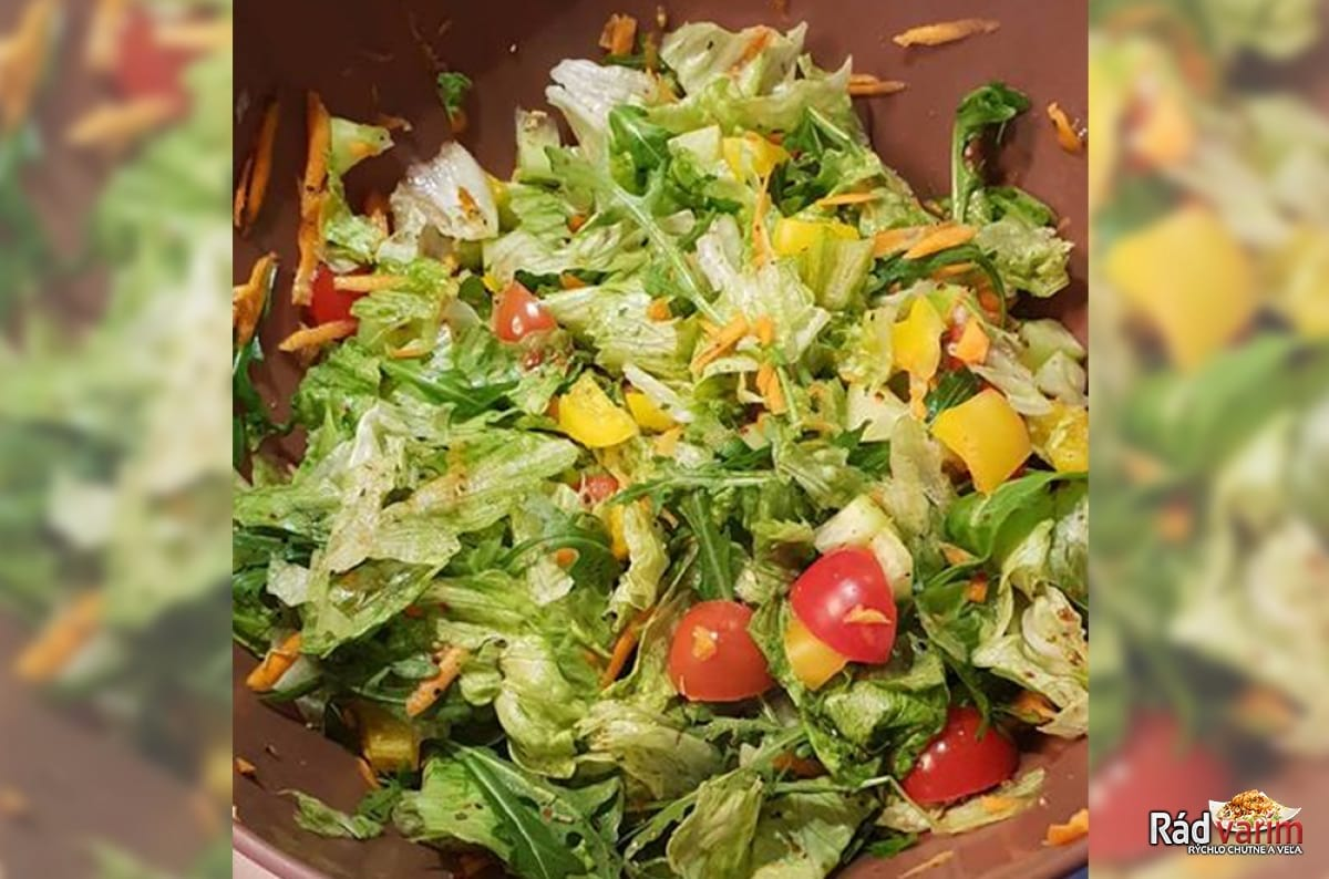 Zeleninový šalát vhodný aj ako príloha