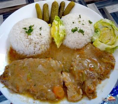 Bravčová krkovička na šťave s ryžou