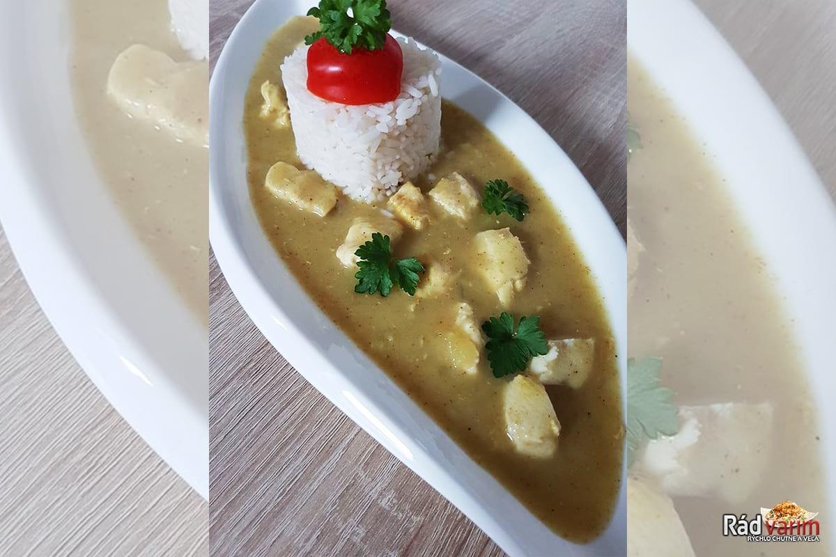 Kuracie mäso na karí s kokosovým mliekom