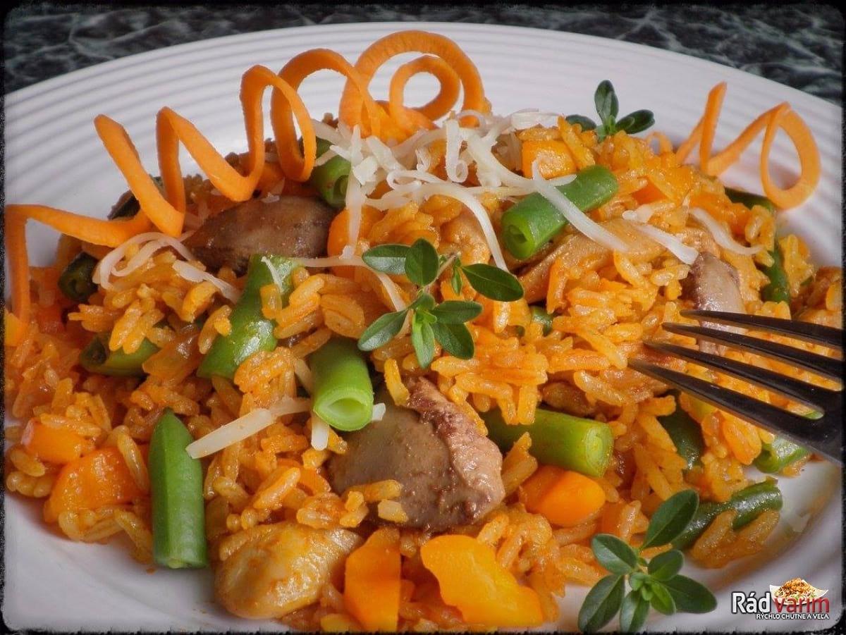 Kuracie rizoto so zeleninou a restovanou pečienkou
