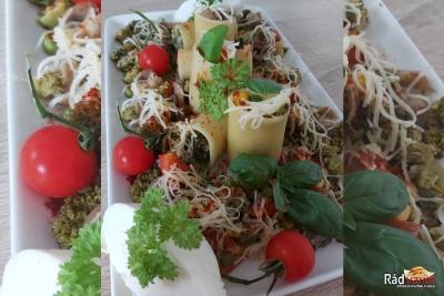 Výborná restovaná zelenina s Paccheri cestovinou a syrom