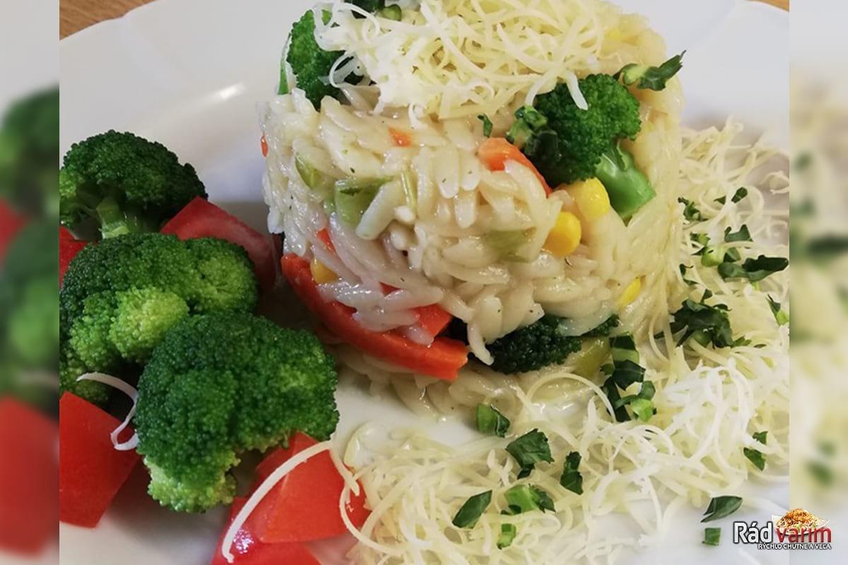 Zeleninové rizoto so syrom