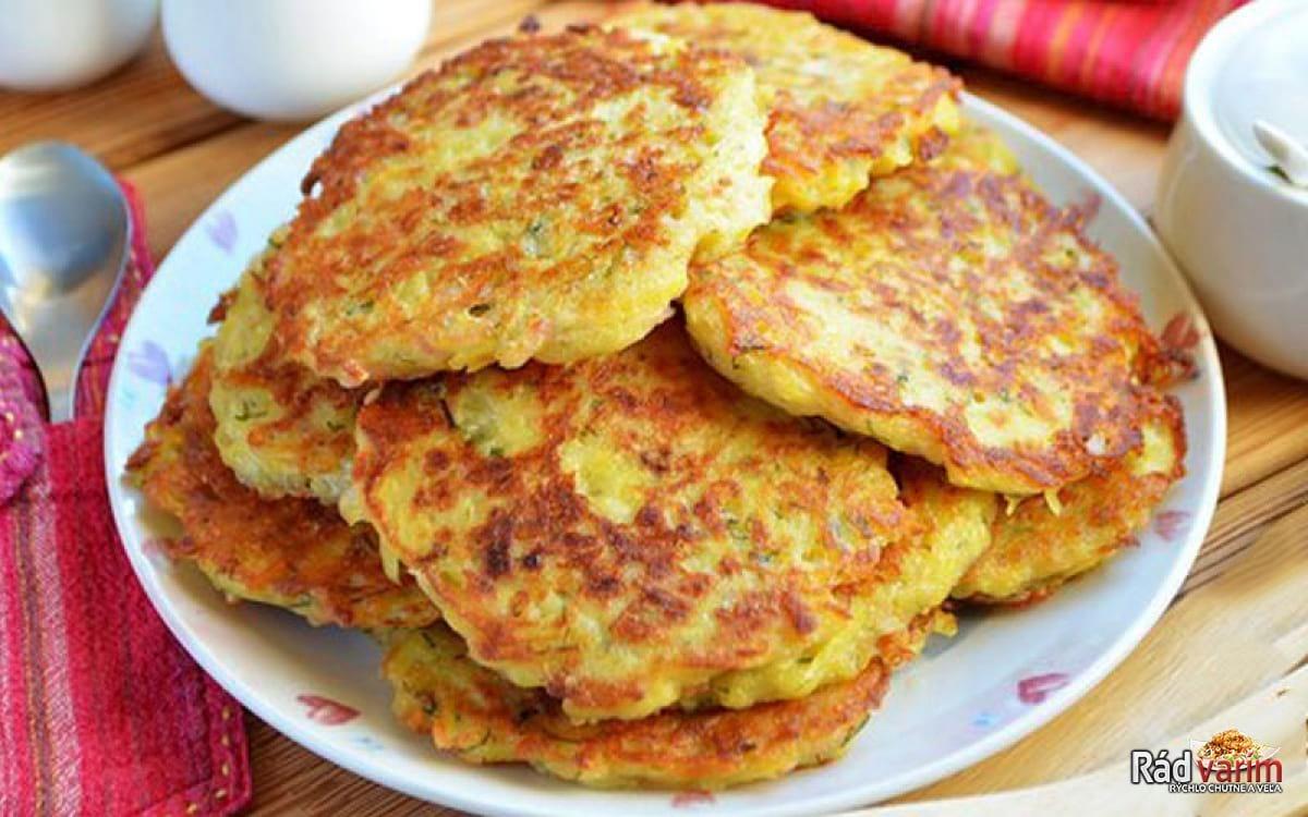 Super rýchle zemiakové placky plnené šunkou a syrom