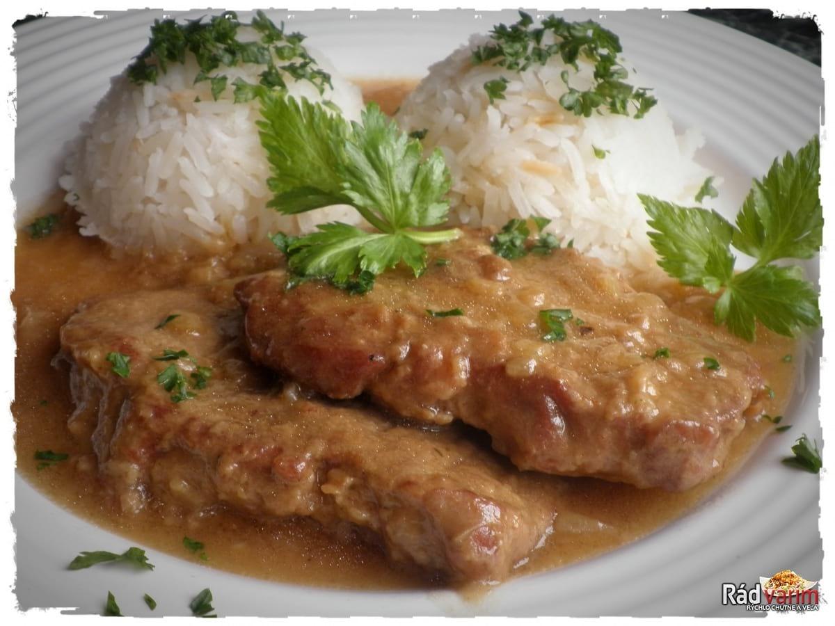 Hovädzia roštenka na horčici s ryžou