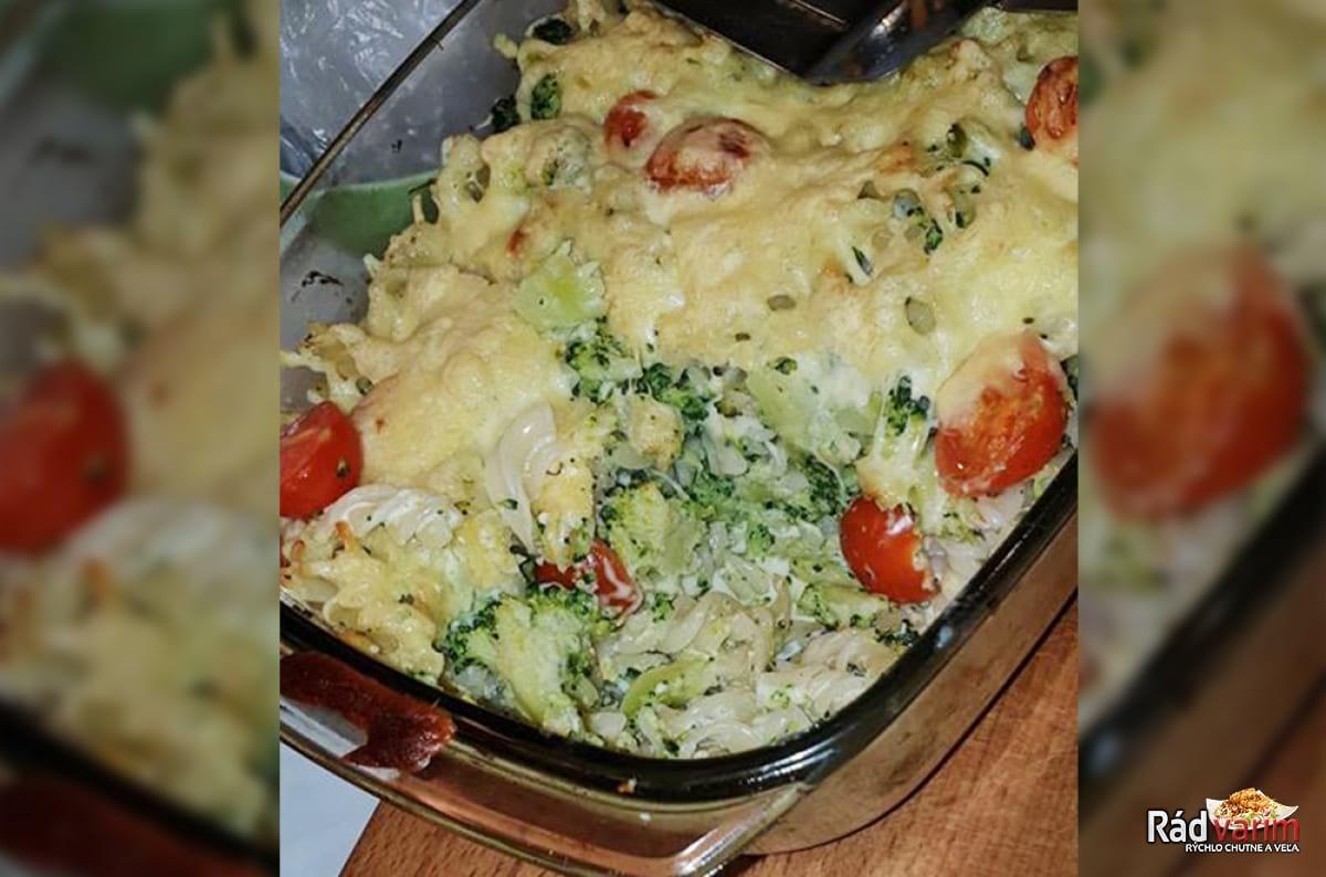 Zapekané fussilli s brokolicou a sherry paradajkami