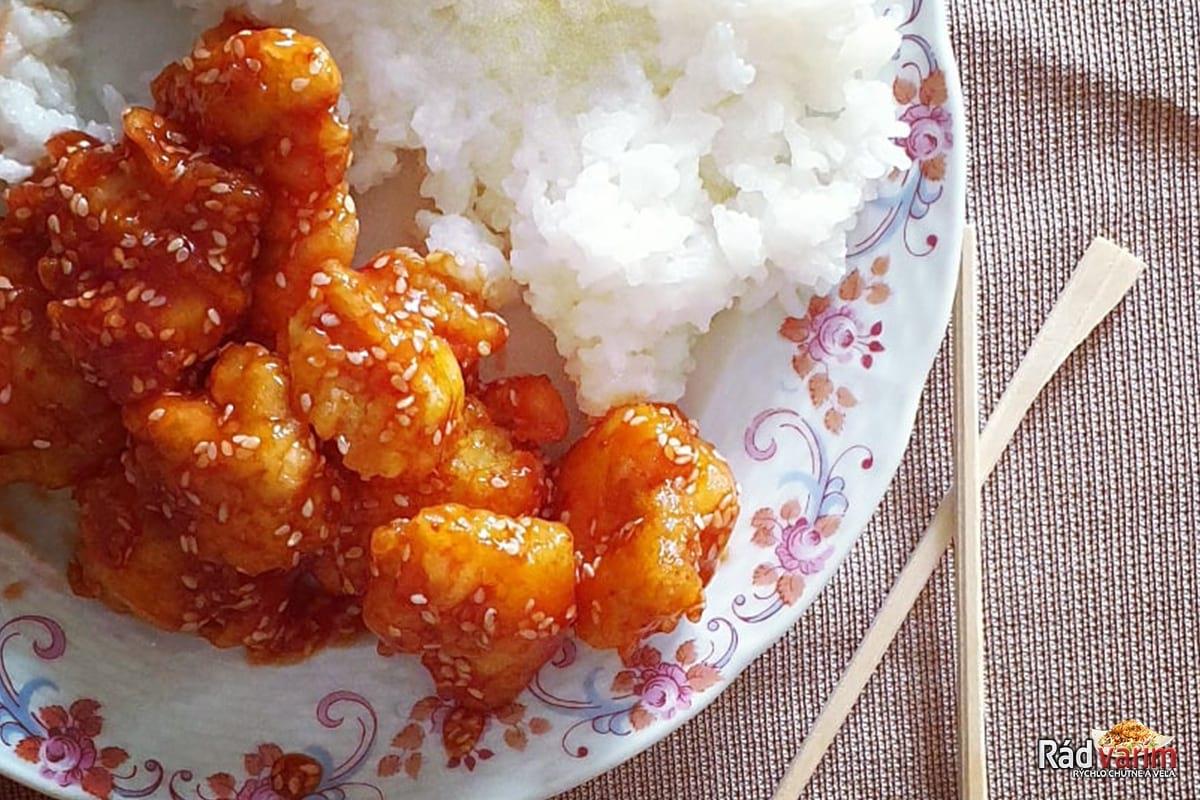 Kuracie kúsky na čínsky spôsob s jasmínovou ryžou