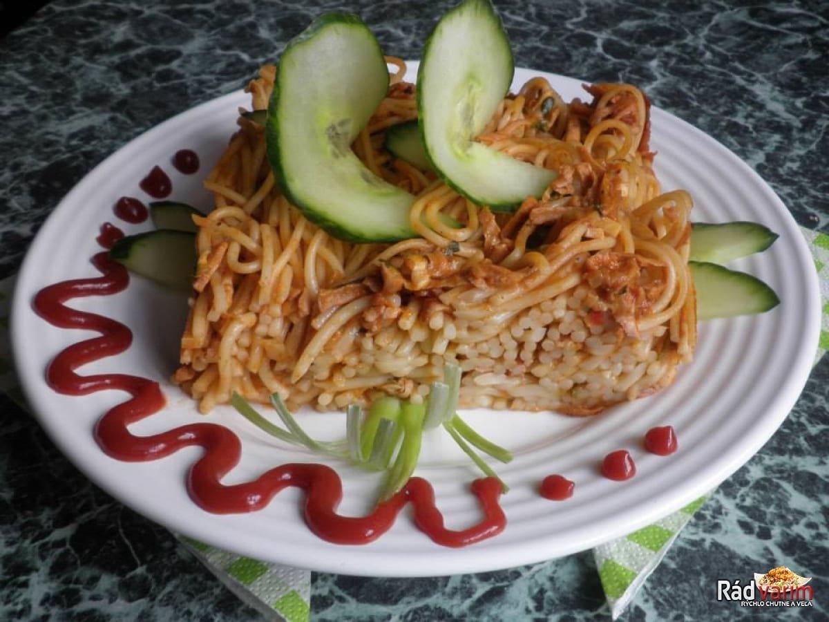 Špagety zapečené s mletým mäsom