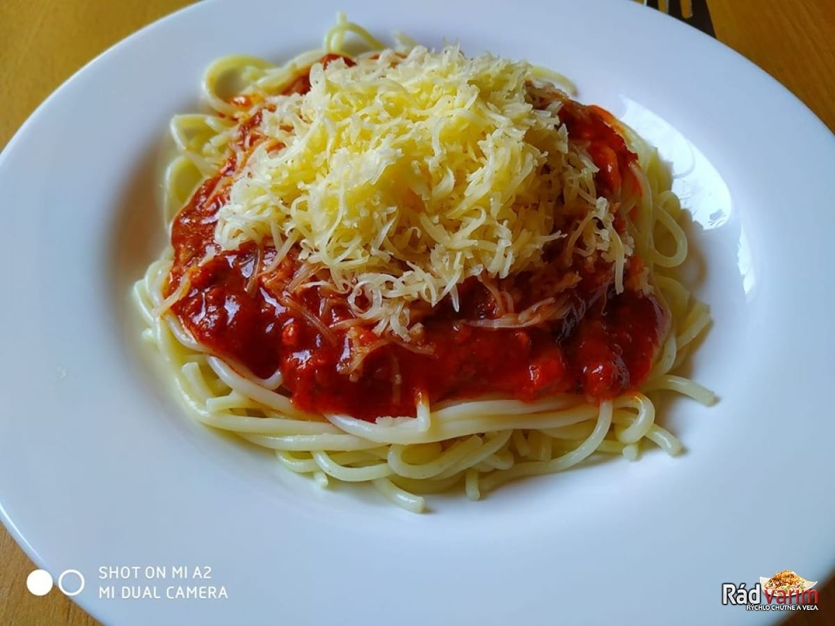 Skvelé špagety s mletým mäsom