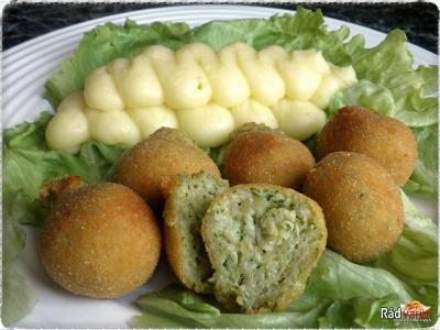 Cuketové guličky so zemiakovou kašou