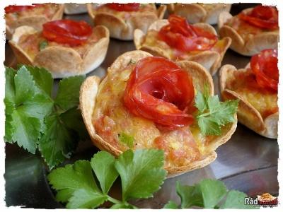 Plnené Tortillové košíky syrom a dobrotou