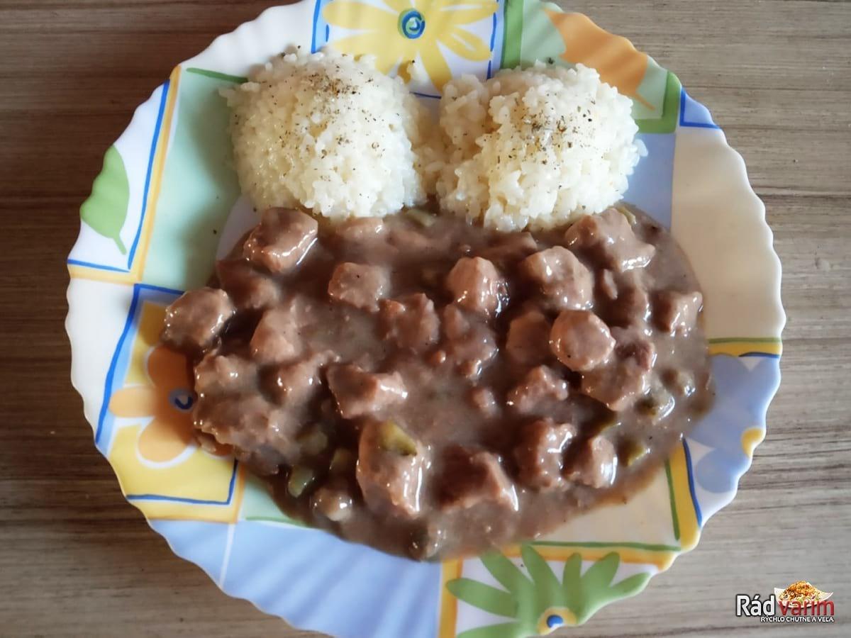 Hovädzie znojemské mäso s ryžou
