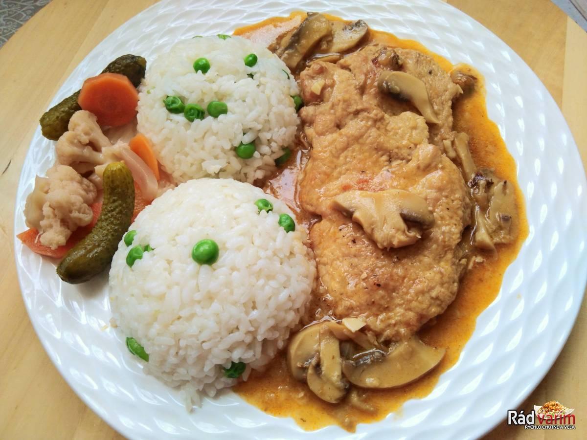 Bravčové Karé na prírodno s hráškovou ryžou
