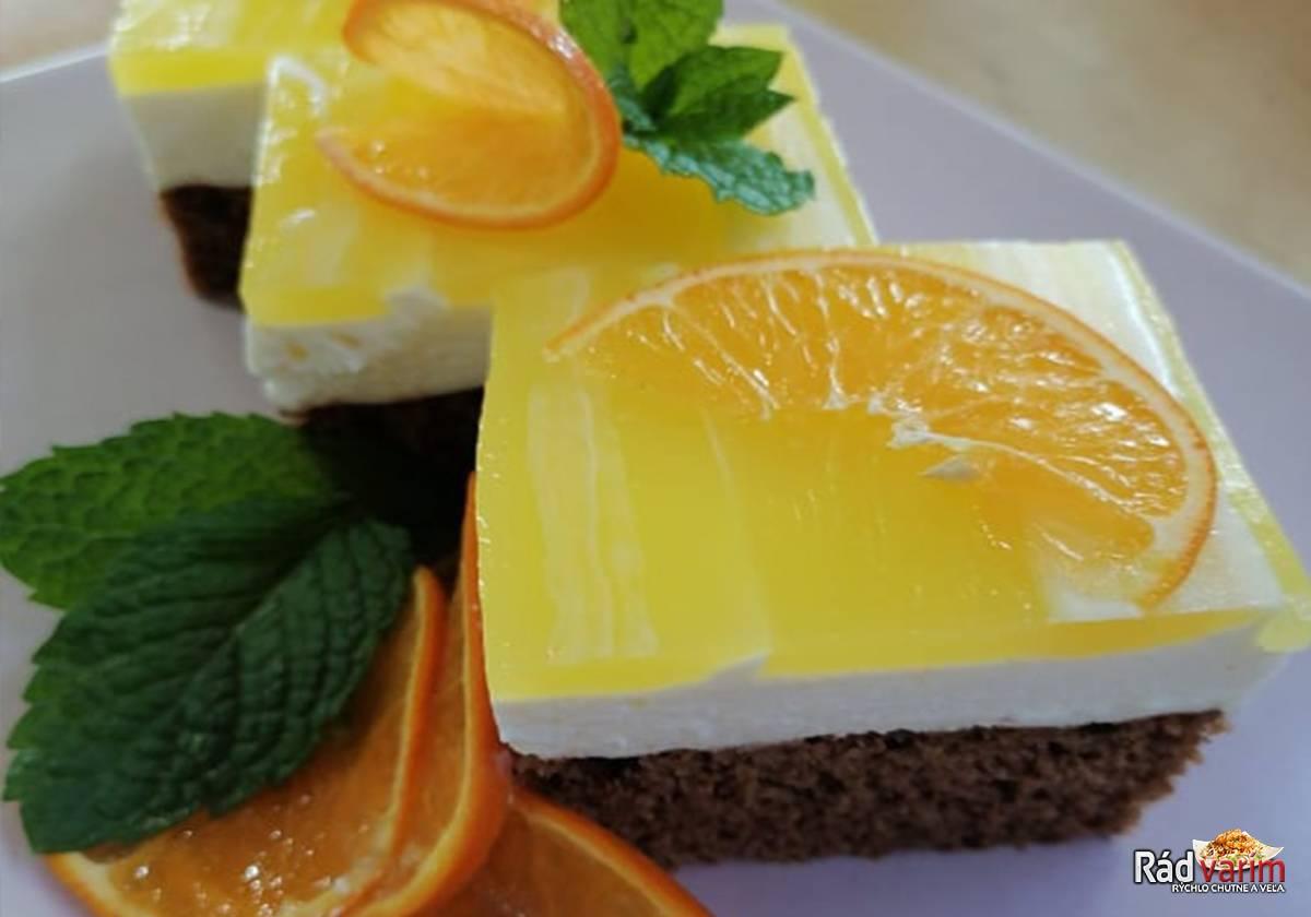 Tvarohový koláč s pomarančovým želé