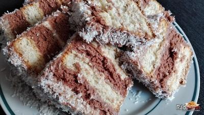 Nepečený BeBe koláč s kokosom