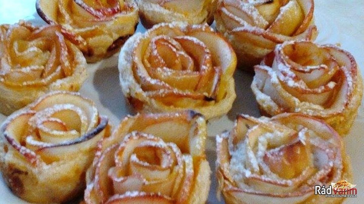 Jablkové ružičky